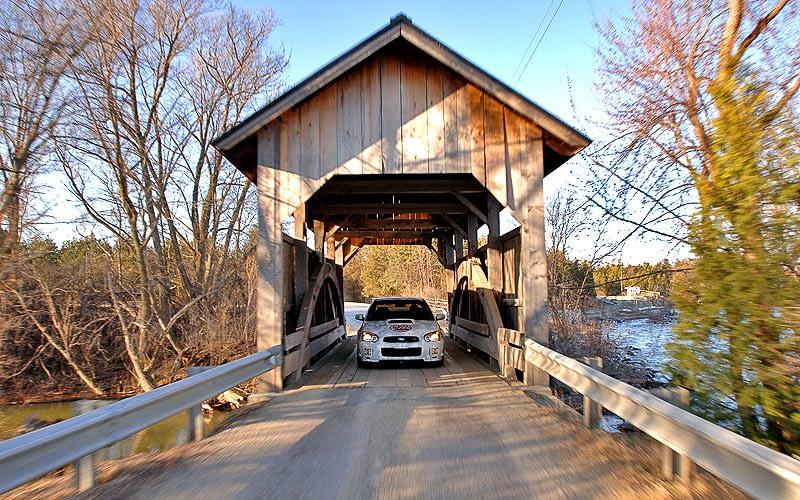 2004 Gumball 3000 Ken Block Covered Bridge