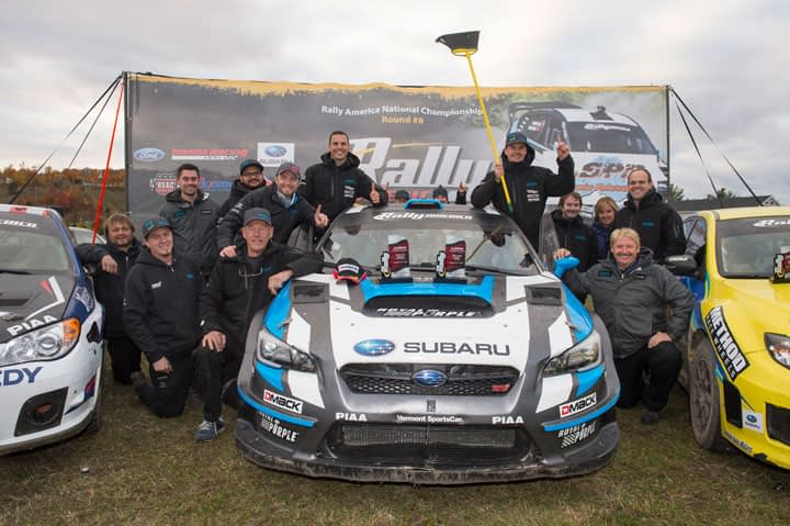 Link to post - Subaru Driver David Higgins Completes Perfect Undefeated Season with Victory at Lake Superior Performance Rally!