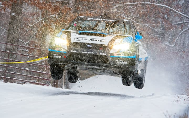 Link to post - Subaru Driver David Higgins Overcomes Treacherous Conditions to Win the 2015 Rally of the 100 Acre Wood