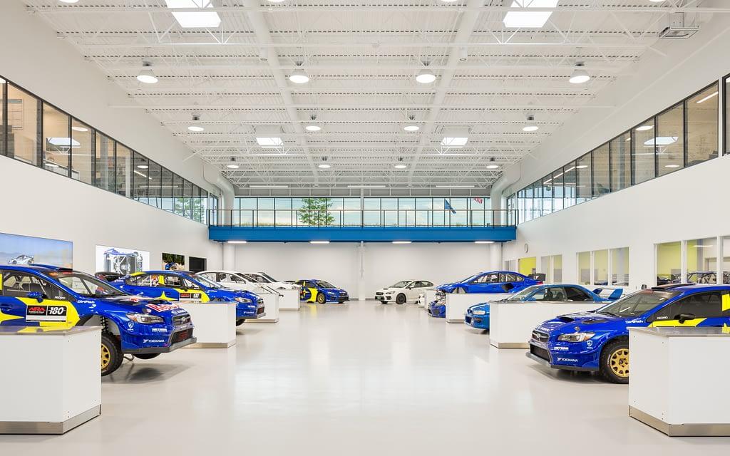 Vermont SportsCar Main Facility floor