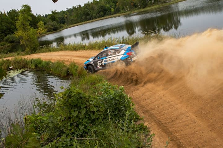 Link to post - Subaru Driver David Higgins Overcomes Adversity to win Ojibwe Forests Rally and Remain Undefeated in 2015
