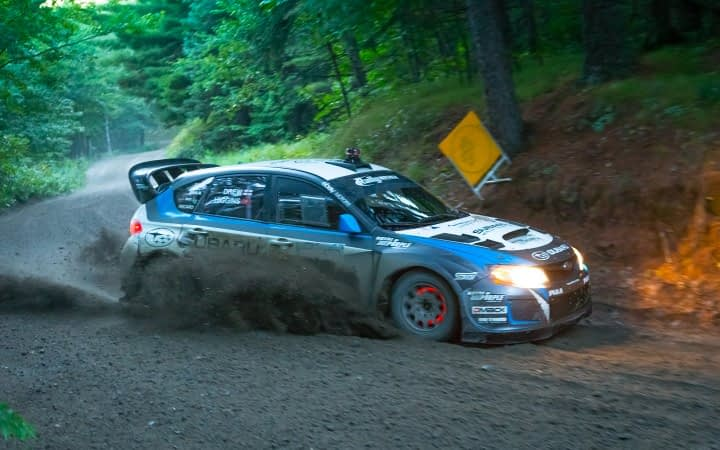 Link to post - Subaru Driver David Higgins Storms to Victory at Ojibwe Forest Rally