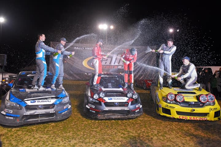 Link to post - Subaru Rally Team USA Drivers Pastrana and Higgins Finish 1-2 at Rally in the 100 Acre Wood