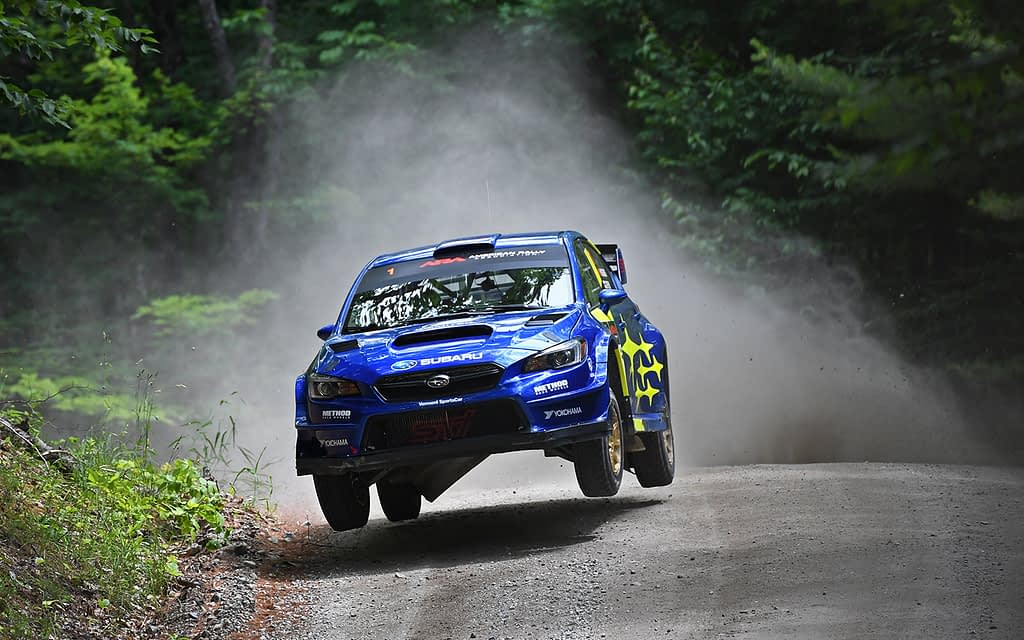 Link to post - Subaru and David Higgins Take Win at New England Forest Rally