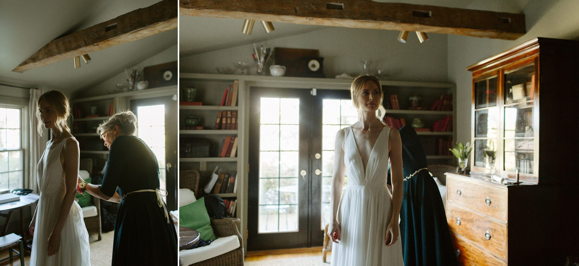 Bride getting ready at M & D Farm