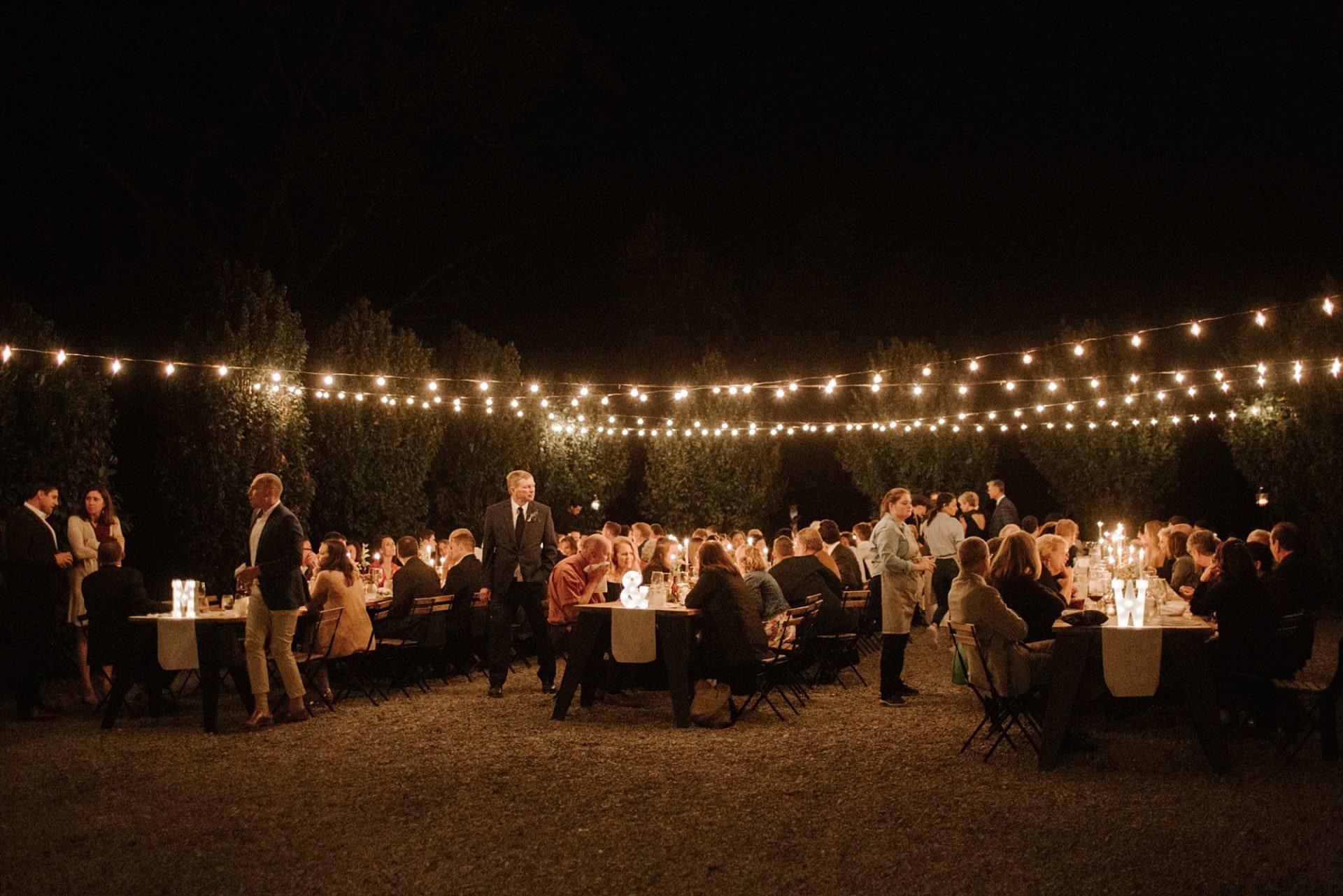 El fresco dinner scene at M & D Farm