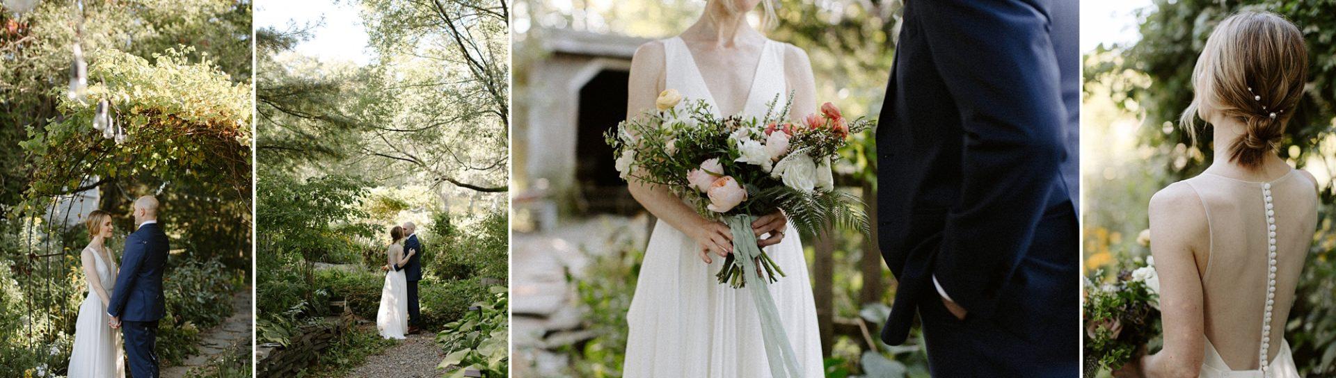Series of bridal portraits at M & D Farm