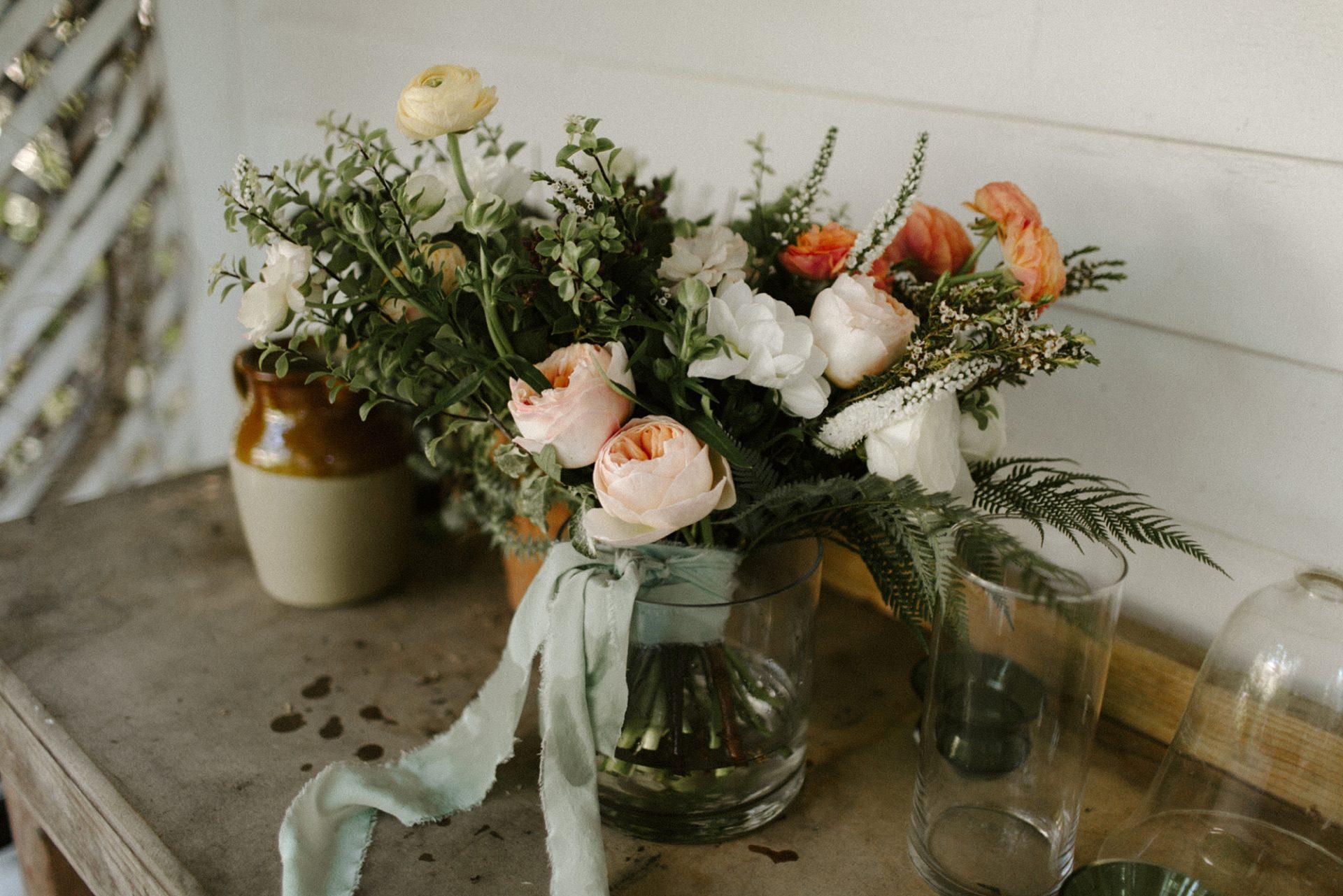 Bridal bouquet at M & D Farm
