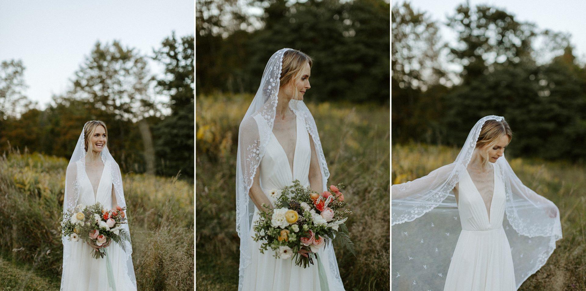 Bridal portraits at M & D Farm