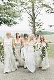 June green and white bouquets by Nectar and Root, Vermont wedding florist at Shelburne Museum in Shelburne, Vermont.