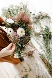 Here is an assortment of our favorite lush wedding flowers by Nectar and Root, Vermont wedding florist.