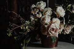 by Nectar and Root, Vermont wedding florist at the Inn at Shelburne Farms in Shelburne, Vermont.
